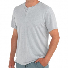 Men's Bamboo Heritage Short Sleeve Henley by Free Fly Apparel in Squamish BC