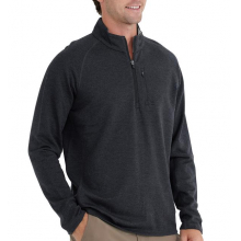 Men's Bamboo Heritage Fleece Quarter Zip by Free Fly Apparel in Squamish BC