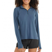Women's Bamboo Flex Quarter Zip by Free Fly Apparel in Squamish BC