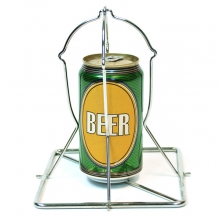 Folding Beer Can Vertical Chicken Roaster