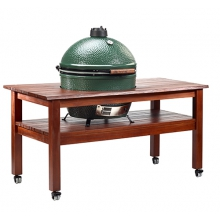Tropical Mahogany Table for Large EGG, w/table levelers by Big Green Egg