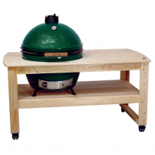 Cypress Table for XLarge EGG, w/table levelers by Big Green Egg in Pensacola Fl