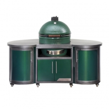 Custom Aluminum Cooking Island 76 in/1.9m for L EGG by Big Green Egg