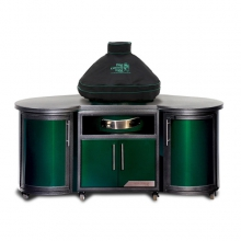 Ventilated Dome Cover w/piping and handle for Large EGG in built-in or Island by Big Green Egg