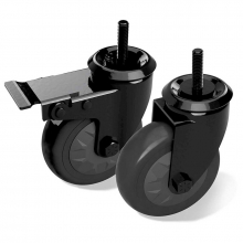 Caster Kit - (4 in) 1 locking 1 non-locking for Wood Tables