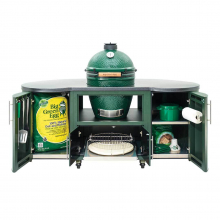 Custom Aluminum Cooking Island 76″/1.9m for XL EGG, includes locking casters by Big Green Egg