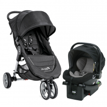 CITY MINI SINGLE TRAVEL SYSTEM BJ Black and Gray by Baby Jogger