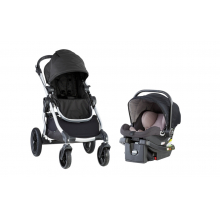 CITY SELECT SILVER FRAME TRAVEL SYSTEM + CSA + PARENT CONSOLE BJ Onyx by Baby Jogger in Los Angeles Ca