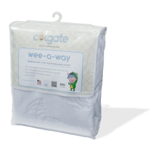 Wee-A-Way Waterproof Fitted Crib Mattress Cover by Colgate Kids in Brentwood Ca