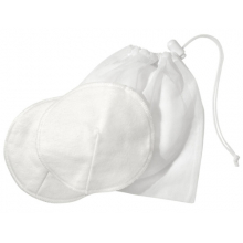 100% Cotton Washable Bra Pads with Laundry Bag by Medela