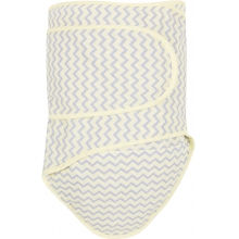 Miracle Blanket - Grey Chevrons with Yellow Trim