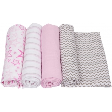 Muslin Swaddle - Pink Swaddle 4-Pack by MiracleWare