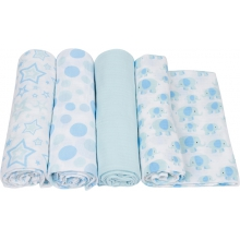 Muslin Swaddle - Boy Swaddle 4-Pack by MiracleWare