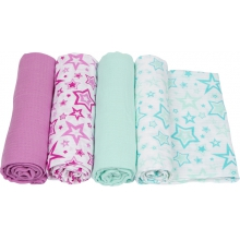 Muslin Swaddle - Stars Swaddle 4-Pack by MiracleWare