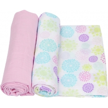 Muslin Swaddle - Colorful Bursts Swaddle 2-Pack by MiracleWare
