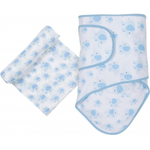 Muslin Swaddle - Elephant Miracle Blanket & Swaddle Set by MiracleWare