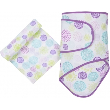 Muslin Swaddle - Colorful Bursts Miracle Blanket & Swaddle Set by MiracleWare