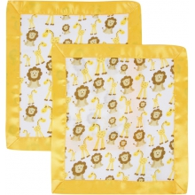 Security Blanket 2 Pack - Giraffes & Lions by MiracleWare