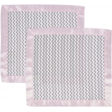 Security Blanket 2 Pack - Pink & Gray Chevron  by MiracleWare