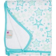 Serenity Blanket - Aqua Stars by MiracleWare