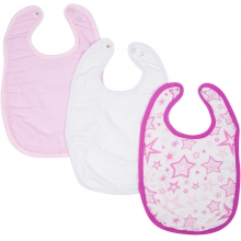 Bibs - Girl Adjustable Bib 3-Pack by MiracleWare