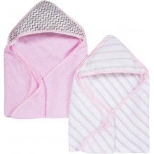 Hooded Towels 2 Pack - Pink MiracleWare Muslin by MiracleWare