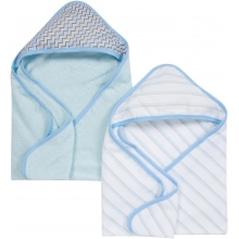 Hooded Towels 2 Pack - Blue MiracleWare Muslin Hooded Towels 2 Pack by MiracleWare