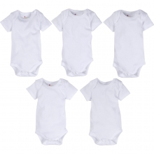 Bodysuits - White MiracleWear Bodysuit 5-Pack 0-3 Month by MiracleWare