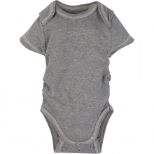 Bodysuits - Gray with Yellow Adjustable Bodysuit Short-Sleeve 12-18 Month by MiracleWare