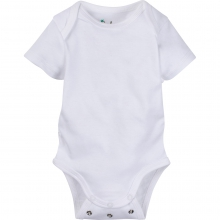 Bodysuits - Solid White Adjustable Bodysuit Short-Sleeve 6-12 Month by MiracleWare
