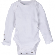 Adjustable Bodysuits - Solid White Adjustable Bodysuit Long-Sleeve 6-12 Month by MiracleWare