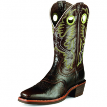 MNS HERITAGE ROUGHSTOCK THUNDER BRN by Ariat
