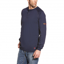 MNS FR HENLEY LS TOP NAVY by Ariat