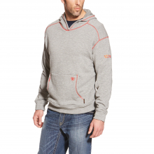 MNS FR POLARTEC HOOD HEATHER GREY