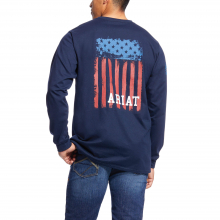 MNS FR AMERICANA GRAPHIC LS T-SHRT NAVY by Ariat