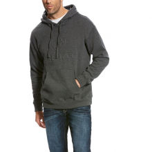 MNS BRANDED HOOD MED CHARCOAL by Ariat