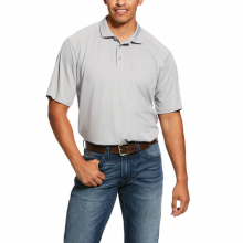 MNS AC SS POLO SILVER LINING by Ariat