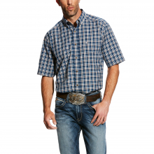 MNS HAROLD SS PERF SHIRT PETROL BLUE by Ariat in Loveland CO