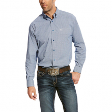 MNS ADELL LS PRINT SHIRT ROYAL SAPPHIRE by Ariat