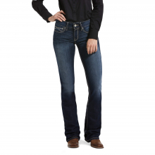 Women's R.E.A.L. Mid Rise Cleo Boot Cut Jean by Ariat in Fort Collins CO