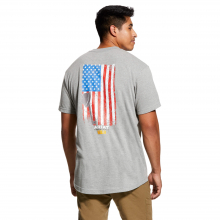 Men's Rebar Cotton Strong American Grit Graphic T-Shirt by Ariat in Loveland CO