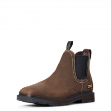 Men's Groundbreaker Chelsea Wide Square Toe Waterproof Steel Toe Work Boot by Ariat