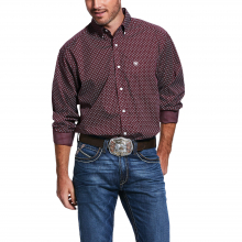 Men's Wrinkle Free Maklin Print Classic Fit Shirt by Ariat