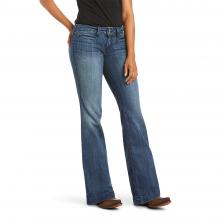 Women's Trouser Mid Rise Stretch Outseam Ella Wide Leg Jean by Ariat in Loveland CO