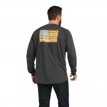 Men's Rebar CottonStrong Brand Flag T-Shirt by Ariat