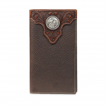 Men's Tooled Overlay Rodeo Wallet by Ariat in Omak WA