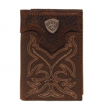 Men's Trifold Leather Wallet by Ariat