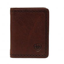 Men's Perforated Edge Bifold Wallet by Ariat