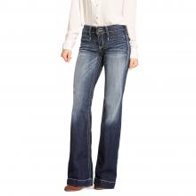 Women's Trouser Mid Rise Stretch Entwined Wide Leg Jean by Ariat in Omak WA