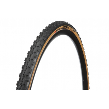 Donnelly PDX World Cup 700 x 33 Tubeless Ready,  Foldable bead 70 tread compound, Black/Tan Tire 366 grams